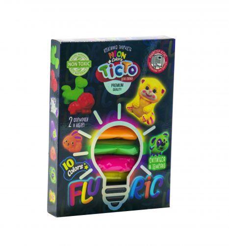 """Набор для лепки """"Fluoric"""", 10 цветов (укр) TMD-FL10-01U"""