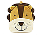 Рюкзак детский велюровый Лев на 3-5 лет в садик, фото 5