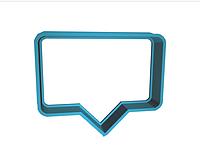 Вырубка Форма для пряника диалог разговорная тучка разм 6 см