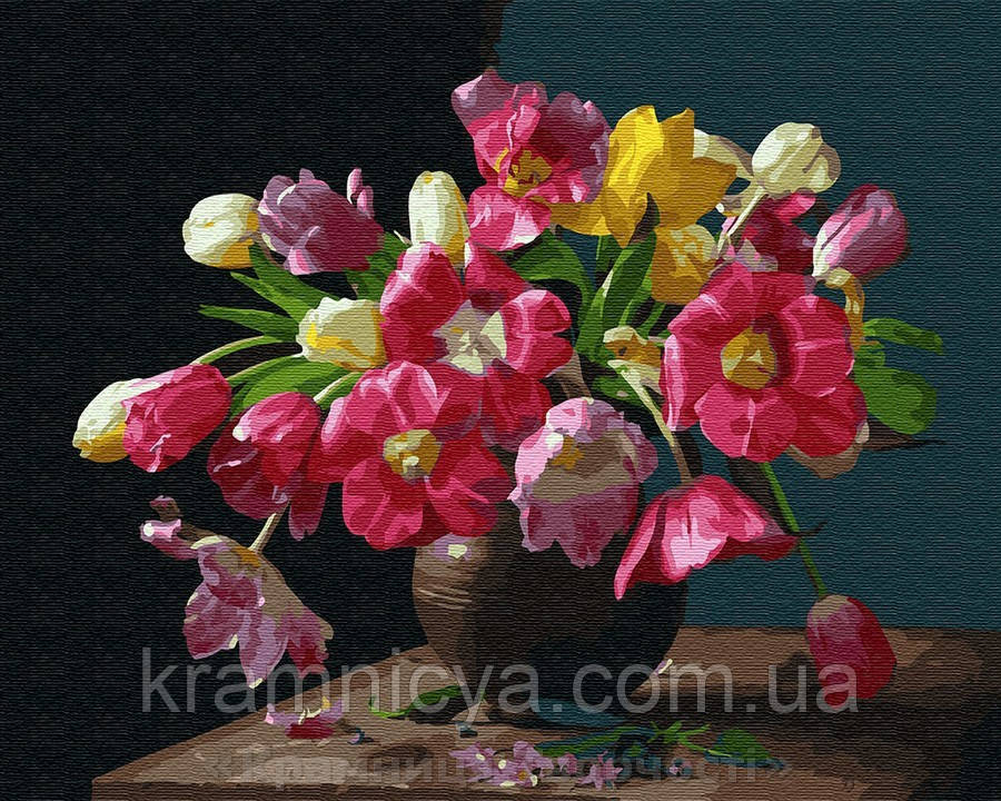 Картина по номерам Brushme 40х50 Красочные цветы (GX25929)