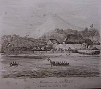Гравюра 1852 год. Манадо вид из бухты