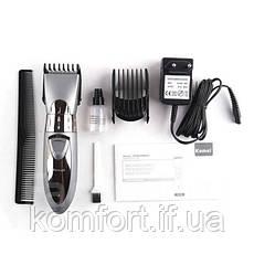 Аккумуляторная машинка для стрижки волос Kemei KM-605, фото 2