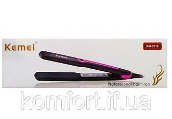Утюжок выпрямитель для волос Kemei KM-2119-Y, фото 2