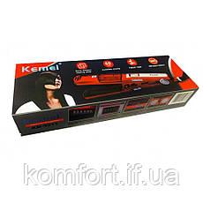 Утюжок выпрямитель с паровым распылителем для волос Kemei KM-3011, фото 2