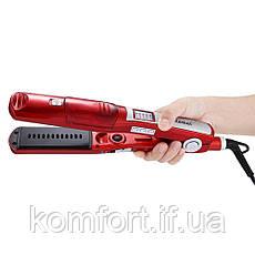 Утюжок выпрямитель с паровым распылителем для волос Kemei KM-3011, фото 3