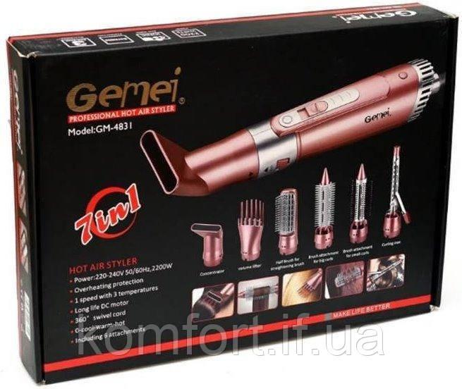 Фен стайлер для волос 7 в 1 Gemei GM-4831
