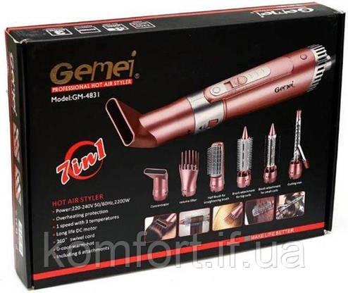 Фен стайлер для волос 7 в 1 Gemei GM-4831, фото 2