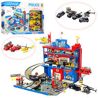 Трехэтажный гараж с 9 полицейскими машинками Полицейский участок - отличный подарок для мальчика