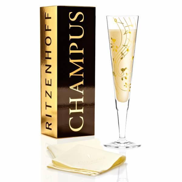 Бокал для шампанского Ноты от Сибилль Майерот