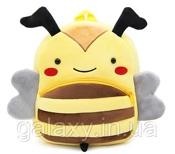 Рюкзак дитячий Бджілка на 3-5 років велюровий Kakoo