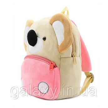 Рюкзак детский Коала велюровый для девочки