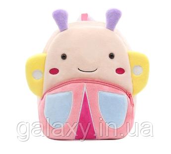 Рюкзак детский Бабочка на 3-5 лет для девочки плюшевый в садик