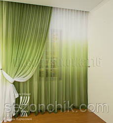 Красивый современный комплект штор в спальню