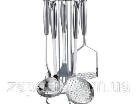 Набор Кухонных Принадлежностей Металл На Подставке 6 Шт