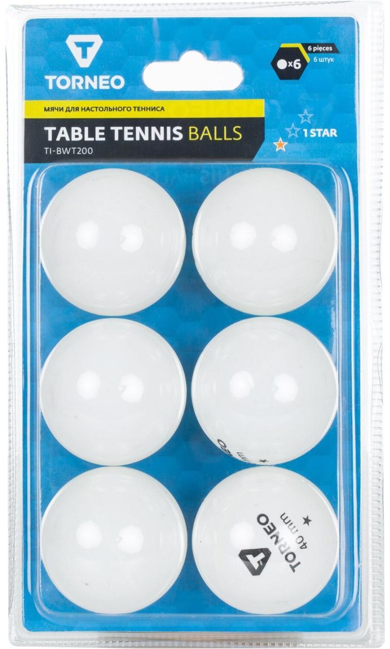 Мячи для настольного тенниса Torneo, 6 шт., Белый