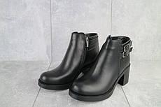 Жіночі низькі зимові черевики з натуральної шкіри