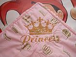 Конверт - плед на выписку с вышивкой Принцесса, фото 3