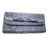 Очень модный женский кошелек из натуральной кожи питона