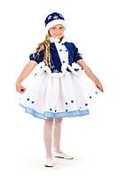 Детский карнавальный костюм Снегурочка «Морозко» в шапочке
