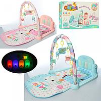 Детский музыкальный коврик  пианино для младенца 096-7