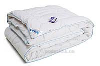 Одеяло зимнее шерстяное Руно Элит в тике с кантом зимнее 140х205 см белое с белым кантом