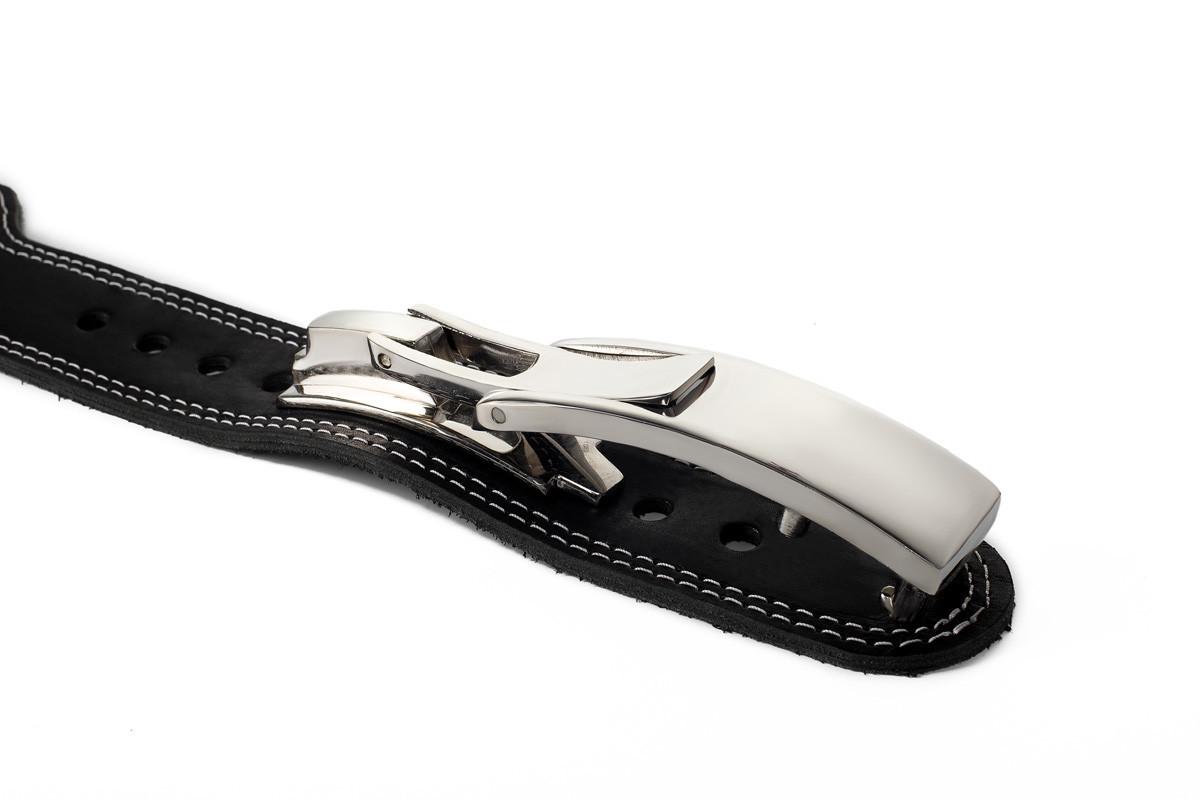 Пояс кожаный атлетический 60/120 мм, карабин, двухслойный XL (90-110 см)