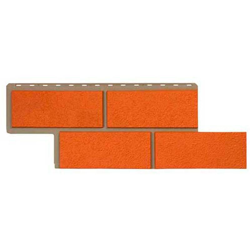 Сайдинг фасадный «Камень неаполитанский», терракотовый