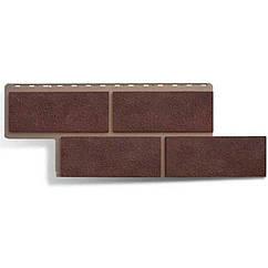 Сайдинг фасадный «Камень неаполитанский», коричневый
