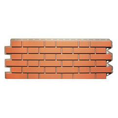 Сайдинг фасадный «Клинкерный кирпич», красный