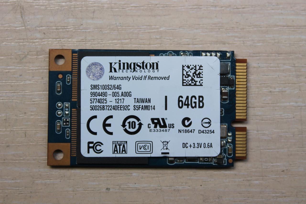 "Жесткий диск Kingston SSDNow MS100 64GB (SMS100S2/64G) ""Over-Stock"""