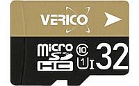 Карта памяти Verico MicroSDHC 32GB UHS-I Class 10 + SD adapter (1MCOV-MAH933-NN), фото 1