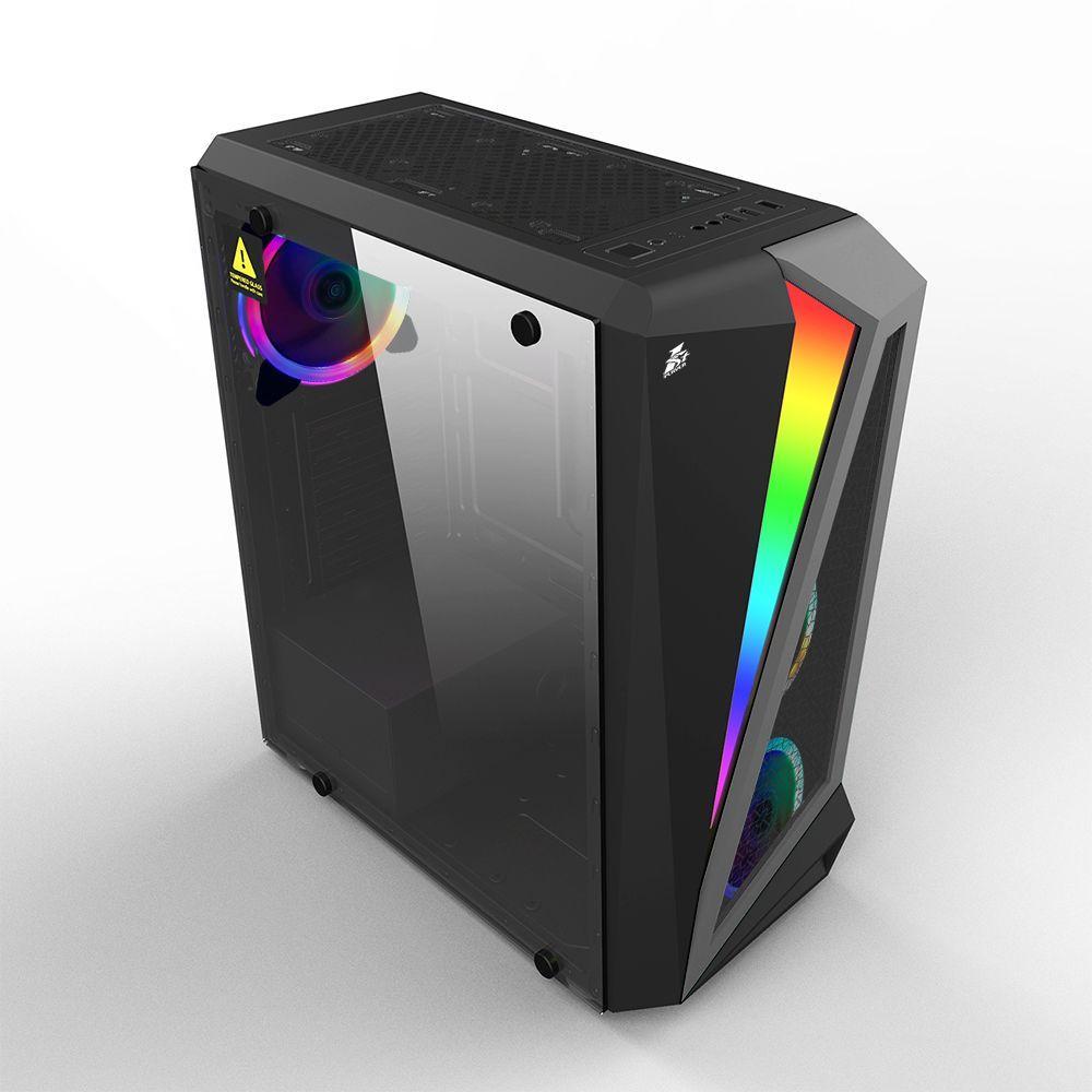 Корпус для ПК 1stPlayer Корпус R5-R1 Color LED Black без БП