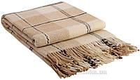 Плед шерстяной Vladi Эльф бело-бежево-коричневый №3 ELF-03.01 200х220 см