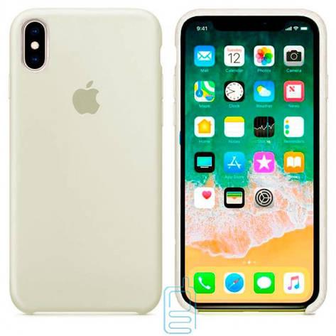 Чехол Silicone Case Apple iPhone XS Max молочный 11, фото 2