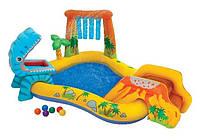 """Детский надувной центр  dinosaur play cente """"динозавры"""" intex 57444 hn ri kk"""