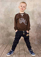 Брюки для мальчика Модный карапуз 03-00572 синие 98