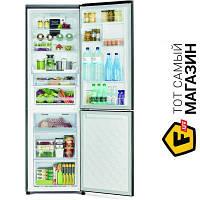 Двухкамерный холодильник Hitachi R-BG410PUC6XGBK no frost (общий) черный