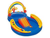 """Детский игровой центр-бассейн аквапарк intex 57453 """"радуга"""" hn ri kk"""