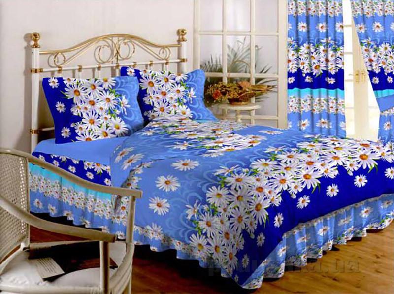 Комплект постельного белья TM Nostra Бязь Голд 20-0429 blue Двуспальный евро комплект