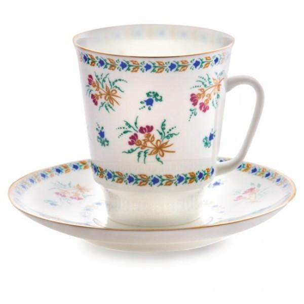 Чашка кофейная с блюдцем И.Ф.З. Майская Голубые колокольчики 165 мл 14021
