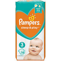 Подгузники Pampers Sleep & Play Размер 3 (Midi) 6-10 кг, 58 шт