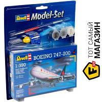 Модель 1:390 самолеты - Revell - Самолет Boeing 747-200, 1:390 (RV64210) пластмасса