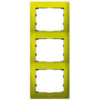 Рамка 3-постовая Вертикальная Metal Magic Green Legrand Galea Life (771927)