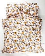 Постельное белье Lotus ранфорс Jadore оранжевое Двуспальный евро комплект Семейный комплект