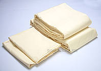 Постельное белье отель Lotus Классик сатин ваниль Двуспальный евро комплект
