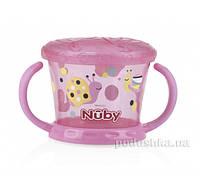 Тарелочка для сухих завтраков с ручками розовая Nuby 5564