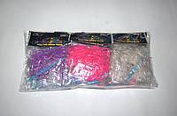Резиночки для плетения Rainbow Loom 200шт. светятся  (фиолетовые, розовые, белые, голубые полупрозрачные)
