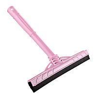Резиновая швабра для пола Titiz 28 см с ручкой TP-550-PK розовая