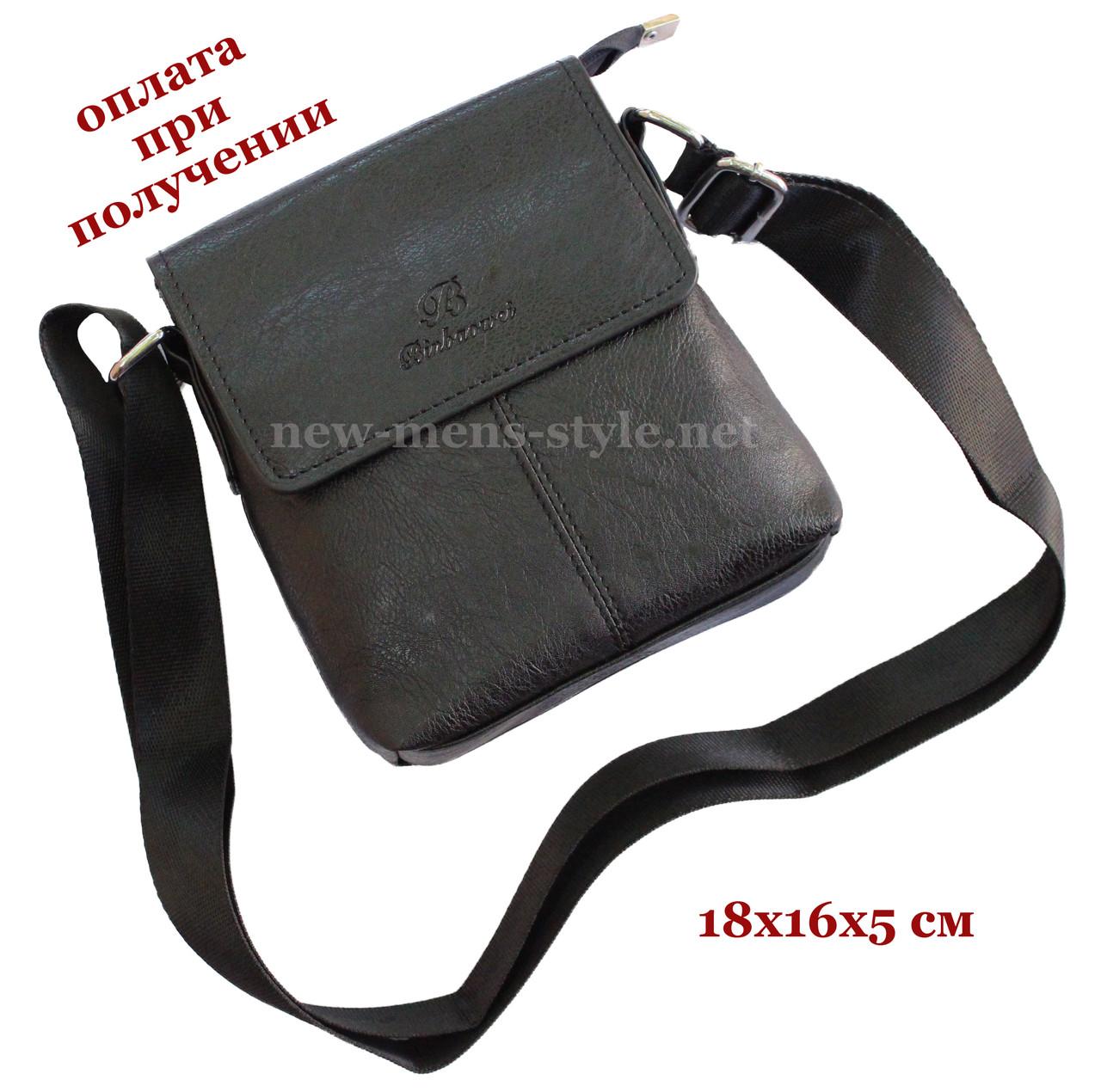 Мужская фирменная чоловіча кожаная сумка борсетка барсетка через плечо BinLac NEW