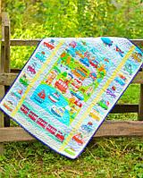 Детский эко плед-одеяло Loskutini с конопляным наполнителем Городок LK.1112 75х100 см